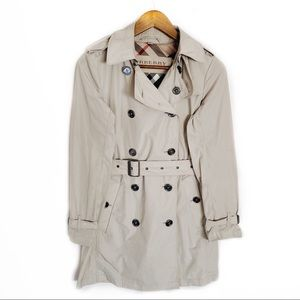 Burberry Britt Tan Button Up Nova Trench Coat